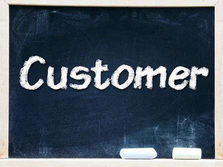 Customer handwritten with white chalk on a blackboard                    Stock Photo - 20601440