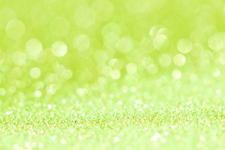 green abstract glitter Bokeh background