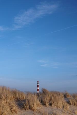 lighthouse island Ameland in the Netherlands