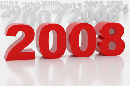 newyear: High resolution image new-year.  3d illustration over white backgrounds. Stock Photo
