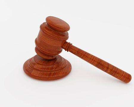juge marteau: Image haute r�solution juge marteau. 3d illustration sur fond blanc.