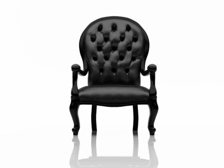 High resolution image white armchair. 3d illustration over  white backgrounds. illustration