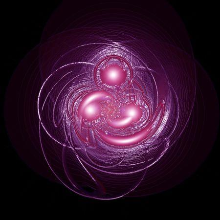 High resolution image swirl. 2d illustration over  black background. Electric light. illustration