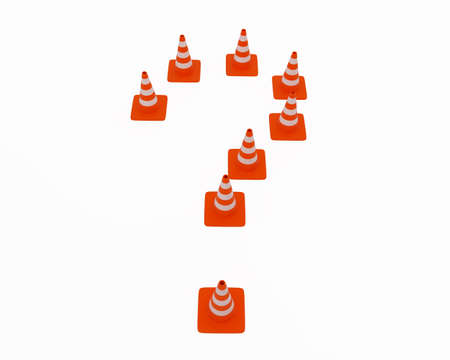 High resolution image of traffic cones. 3d illustration. illustration