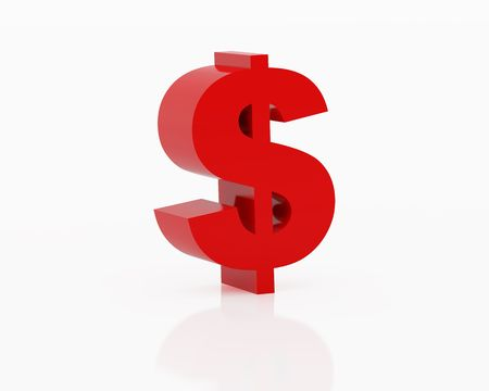 accumulate: High resolution image symbol dollar. 3d illustration over white backgrounds. Stock Photo