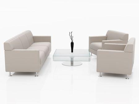 High resolution image interior. 3d illustration over  white backgrounds. Stock Illustration - 2456324