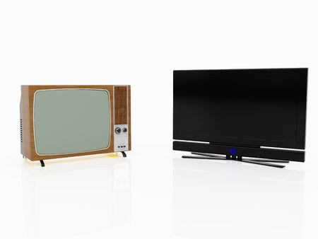 High resolution image TV. 3d illustration over  white backgrounds. illustration