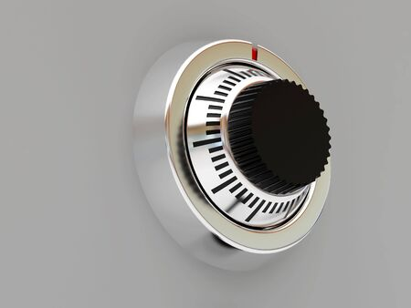turn the dial: High resolution image safe. 3d illustration. Background of financial activity.