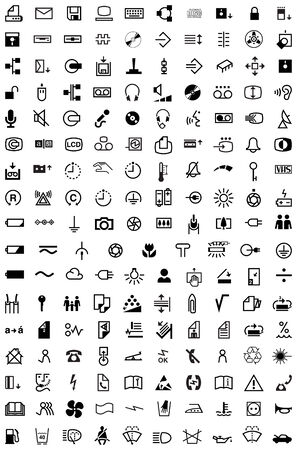 image size: This image is a vector illustration and can be scaled to any size without loss of resolution. 170 various signs. Illustration