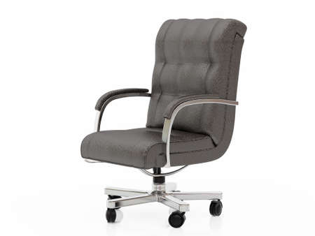 High resolution image office armchair. 3d illustration over  white backgrounds. Stock Illustration - 2780000