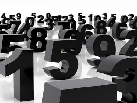 High resolution image  black figures. 3d illustration over  white backgrounds. illustration