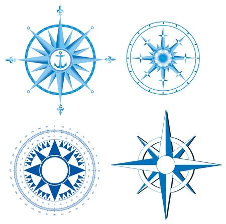rosa dei venti: Questa immagine � una illustrazione vettoriale e pu� essere installato su qualsiasi dimensione senza perdita di risoluzione.  Vettoriali