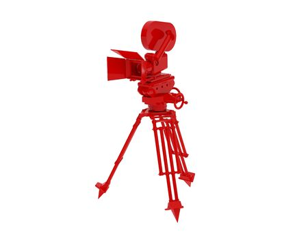 cinematograph: High resolution image camera. 3d illustration over  white backgrounds.
