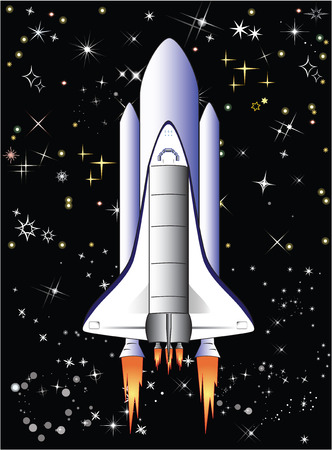 space shuttle: This image is a vector illustration and can be scaled to any size without loss of resolution.