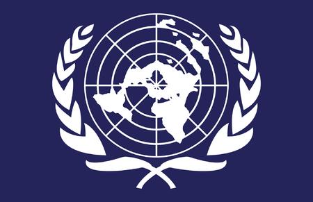 united nations: Esta imagen es una ilustraci�n vectorial y puede hacerse a escala en cualquier tama�o sin p�rdida de resoluci�n.