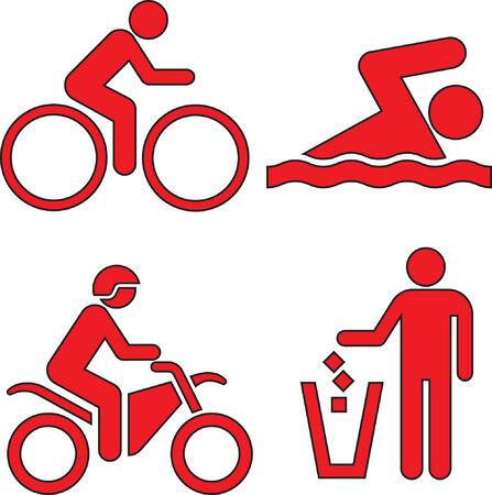 bicicleta vector: Esta imagen es una ilustraci�n vectorial y puede hacerse a escala en cualquier tama�o sin p�rdida de resoluci�n.
