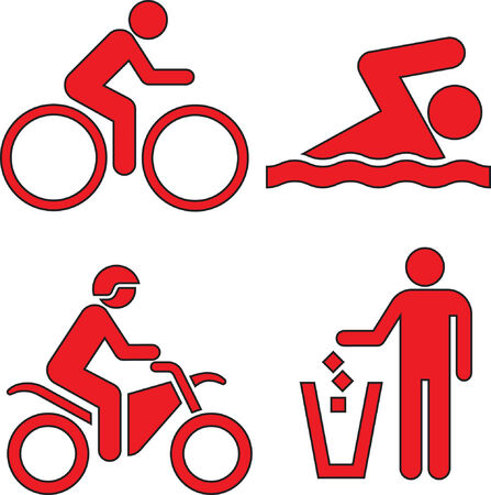 bicycle lane: This image is a vector illustration and can be scaled to any size without loss of resolution.