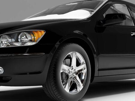 high resolution: High resolution image car on a black background. 3d illustration.