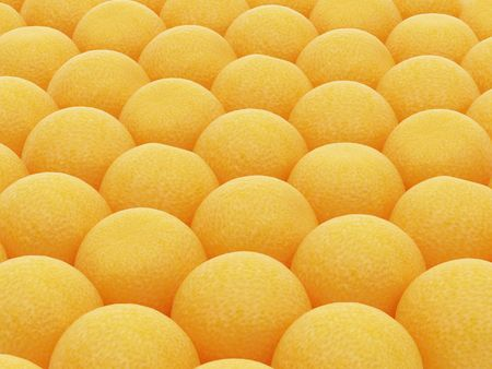 half ball: High resolution image orange on a white  background. 3d illustration.