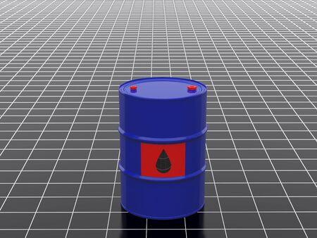 High resolution image barrel. 3d  illustration against from squares. Stock Illustration - 3459390