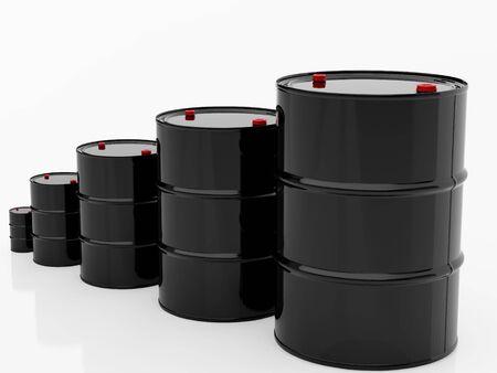 toxic barrels: High resolution image barrel. 3d illustration over  white backgrounds.