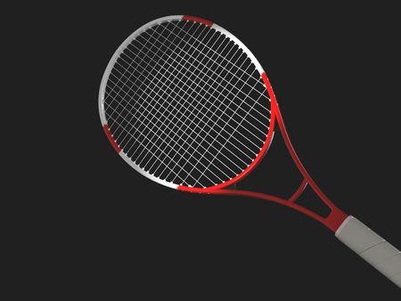 high resolution: High resolution image  tennis on a black background. 3d illustration.