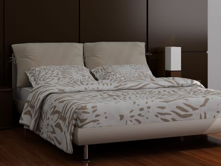 High resolution image interior. A bed in a bedroom. Stock Photo - 3544644