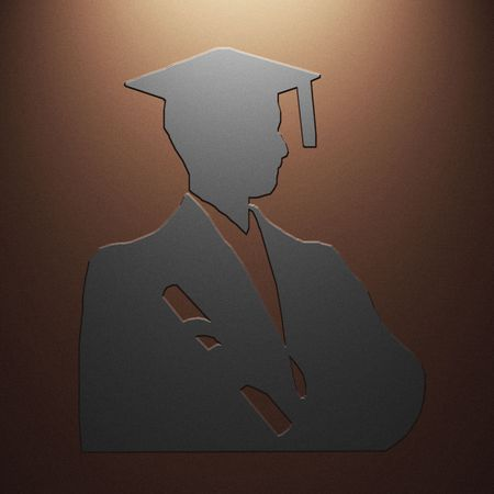 High resolution image symbol on a metal background. 3d illustration. illustration
