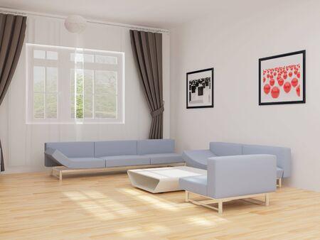 High resolution image interior. 3d illustration modern interior. Drawing room. illustration