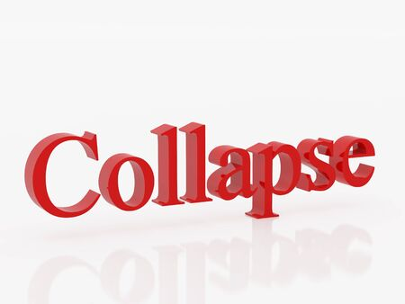 collapsed: High resolution image symbol. 3d illustration over  white backgrounds.