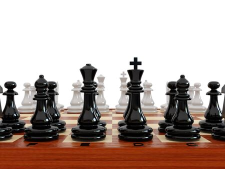 High resolution image chess on a white background. 3d illustration. illustration