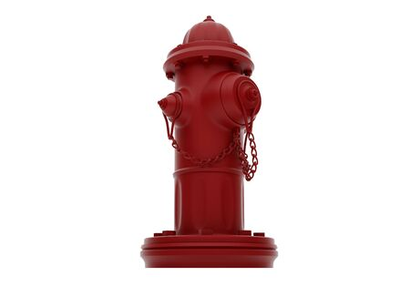 hydrant plug: Vintage Red Fire Hydrant isolated over white. High resolution image.