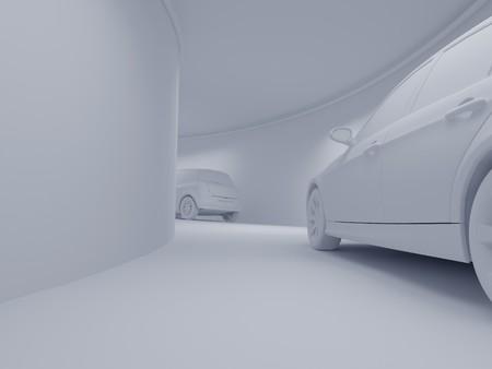 High resolution image car on a parking. 3d illustration. Stock Illustration - 4094904