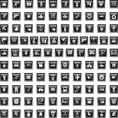 image size: Esta imagen es una ilustraci�n vectorial y puede hacerse a escala en cualquier tama�o sin p�rdida de resoluci�n. 100 signos diferentes. Vectores