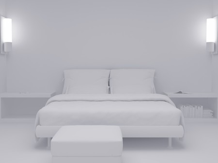 High resolution image inter. 3d illustration modern inter. Living room. Stock Illustration - 4156396