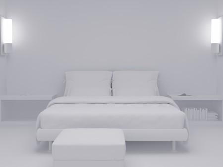 High resolution image interior. 3d illustration modern interior. Living room. Stock Illustration - 4156396