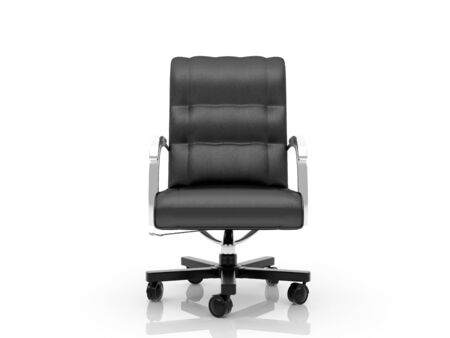 High resolution image office armchair. 3d illustration over  white backgrounds. Stock Illustration - 4378448