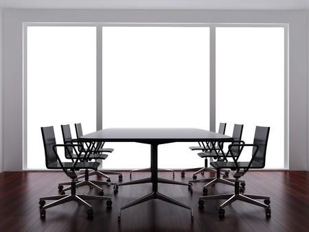 High resolution image interior. 3d illustration modern interior. Office room. Stock Photo