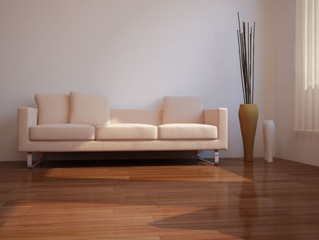 Bild mit hoher Auflösung Inneren. 3D-Darstellung moderner Innenarchitektur. Wohnzimmer. Standard-Bild - 4588279