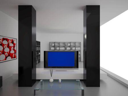 High resolution image interior. 3d illustration modern interior. Living room. illustration