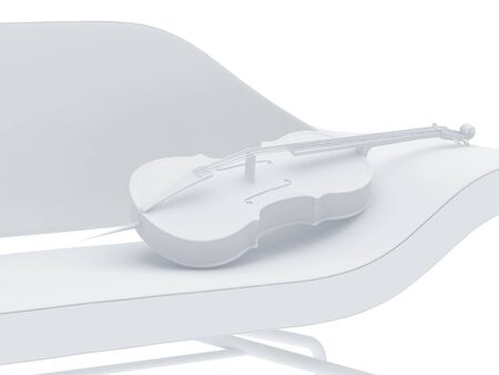 High resolution image  cello. 3d illustration over  white backgrounds. illustration