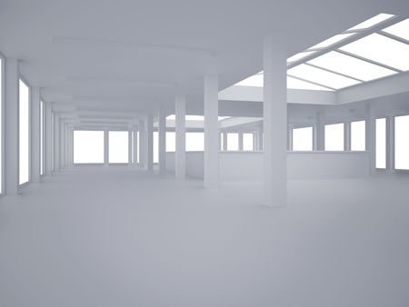 High resolution image interior. 3d illustration modern interior. Office room. 写真素材