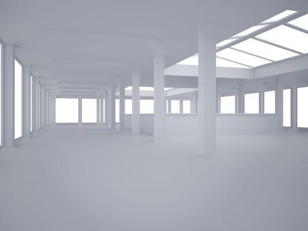 Bild mit hoher Auflösung Inneren. 3D-Darstellung moderner Innenarchitektur. Büroraum. Standard-Bild - 4756461