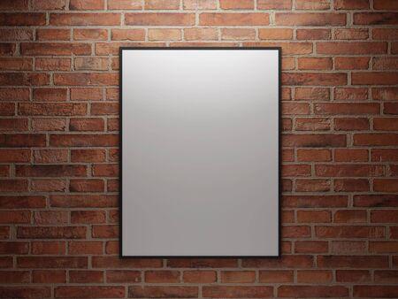 Bild mit hoher Auflösung ein Bild. 3D-Darstellung. Bild auf die Wand. Standard-Bild - 4756465
