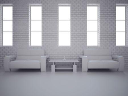 condo: High resolution image interior. 3d illustration modern interior. Living room.