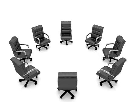 High resolution image office armchair. 3d illustration over  white backgrounds. Stock Illustration - 4963743