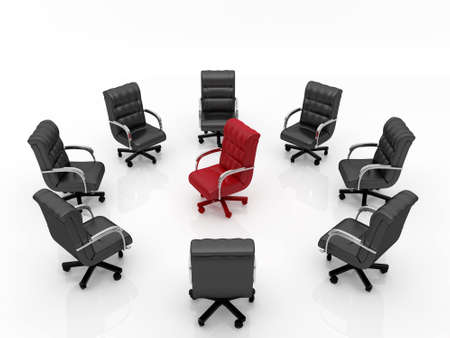 High resolution image office armchair. 3d illustration over  white backgrounds. Stock Illustration - 4978000