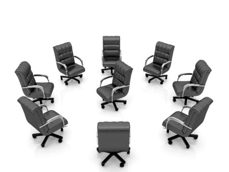 High resolution image office armchair. 3d illustration over  white backgrounds. Stock Illustration - 5078690