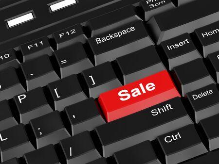 3d illustration. High resolution image.  The computer keyboard. Stock Illustration - 5599631