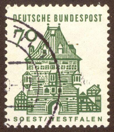 soest: GERMANY -CIRCA 1964: Soest is a town in North Rhine-Westphalia, Germany, circa 1964.